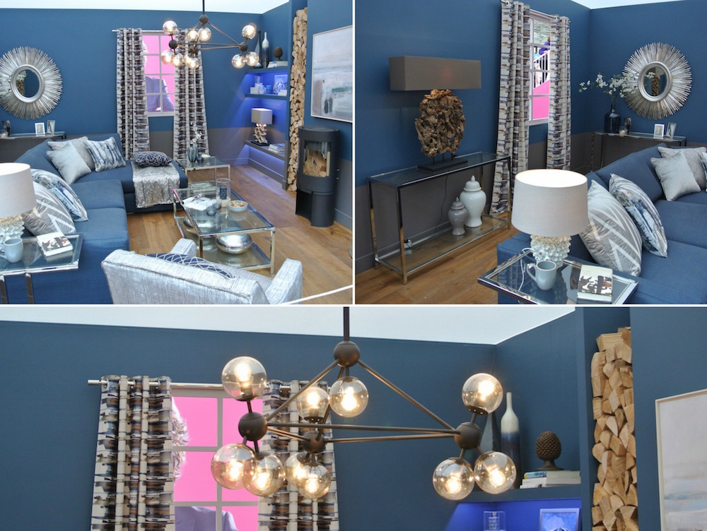 blue lounge collage