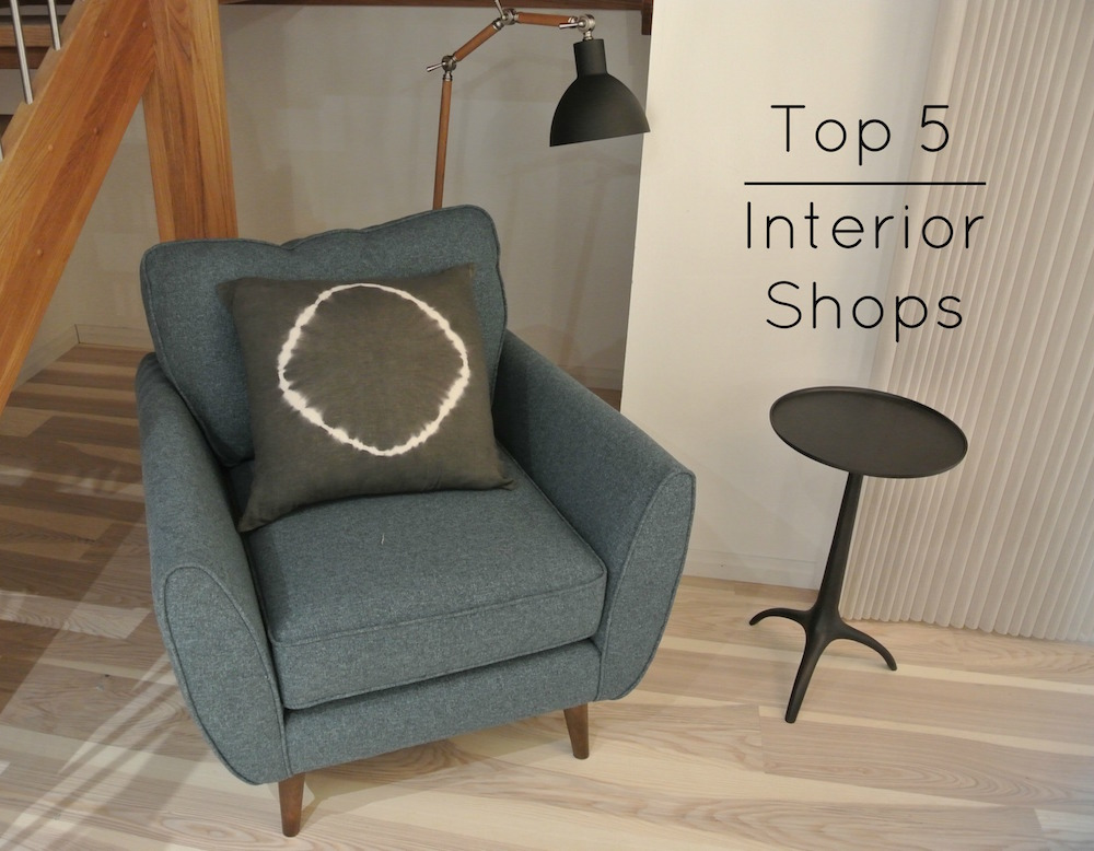 Top 5 Home Decor Shops Text