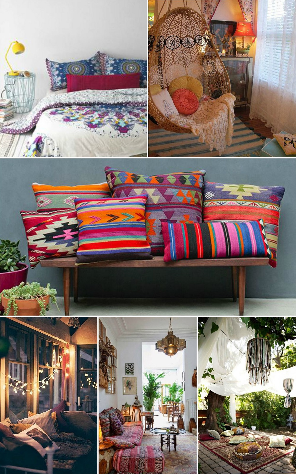 boho interiors collage 2