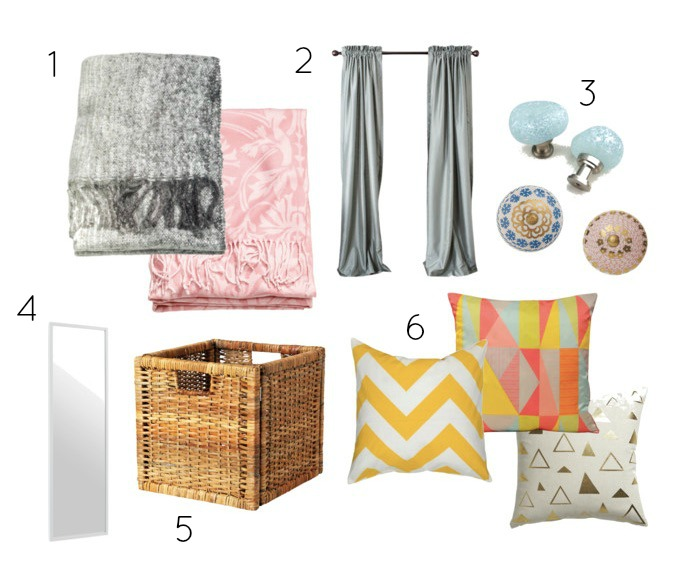 Home Decor Wishlist numbered